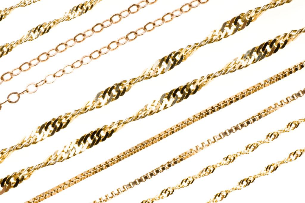 плетения золотых цепей