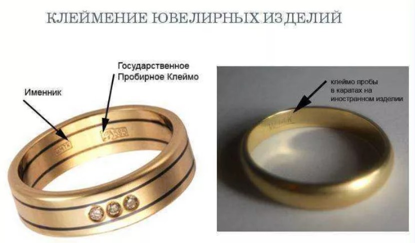 проверка золота клеймение изделий