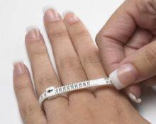 размер кольца как измерить палец