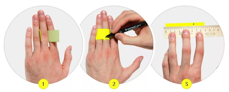 размер кольца полоской бумаги