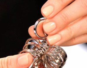 размер кольца ювелиный магазин примерка