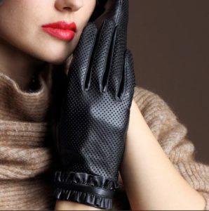 размер женских перчаток черные перчатки с декором