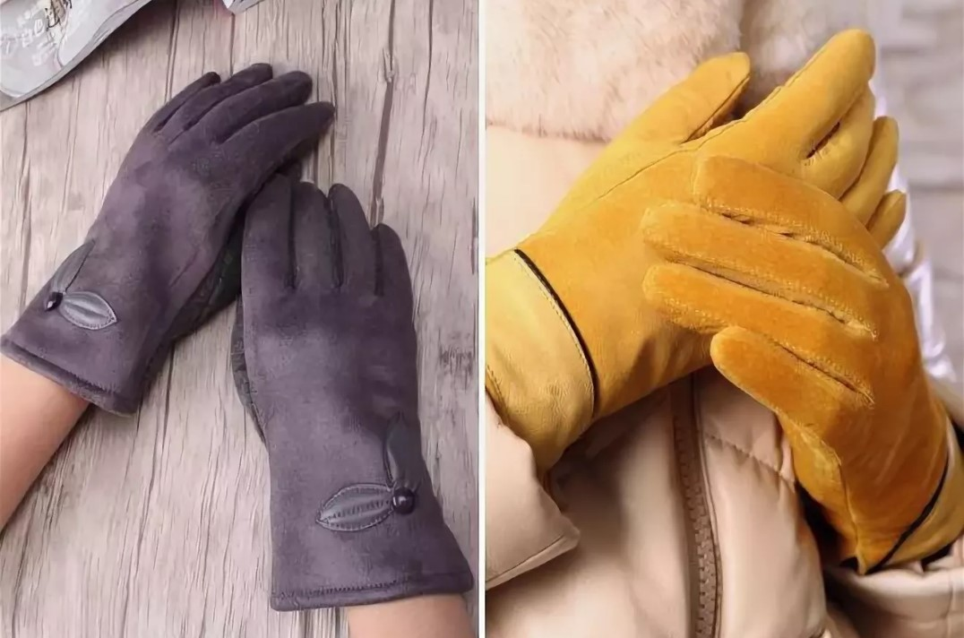 размер женских перчаток замшевые перчатки