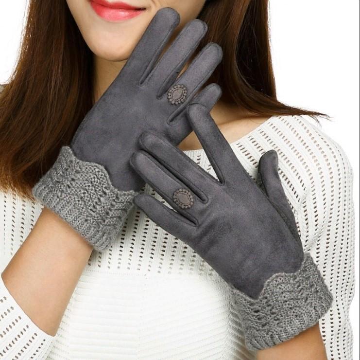 размер женских перчаток замшевые