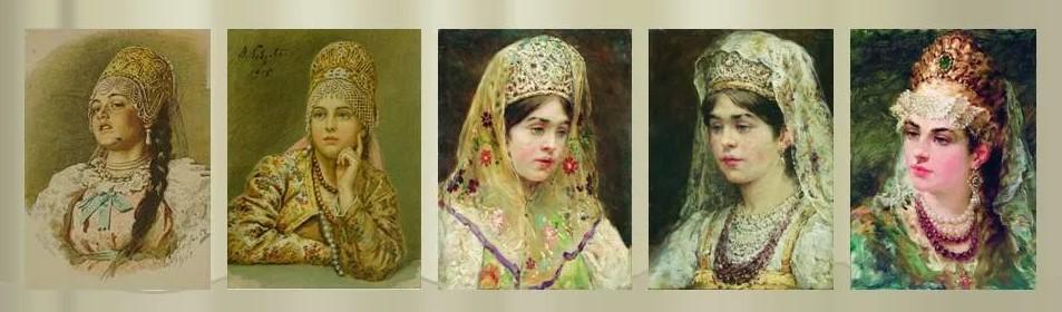 русский национальный костюм головные уборы