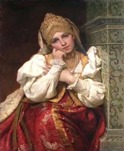 русский национальный костюм женский 2