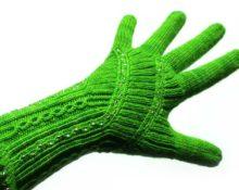 перчатки с узором спицами схемы