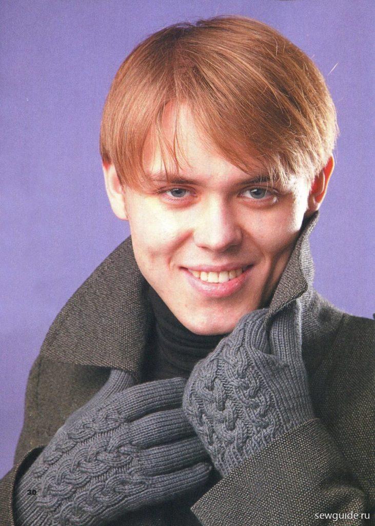 перчатки с косами