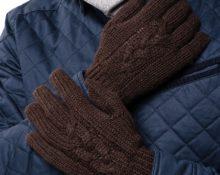 мужские перчатки спицами