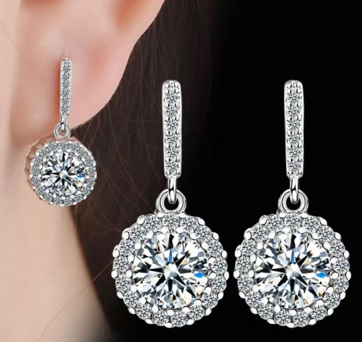серьги с бриллиантами 14