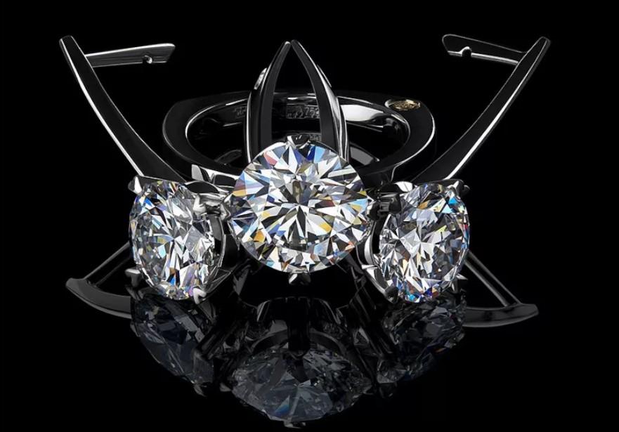 серьги с бриллиантами 17