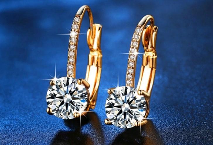 серьги с бриллиантами 6