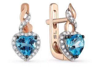 серьги с бриллиантами 7