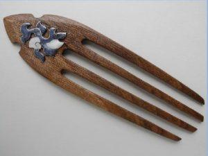 шпилька для волос деревянная 2