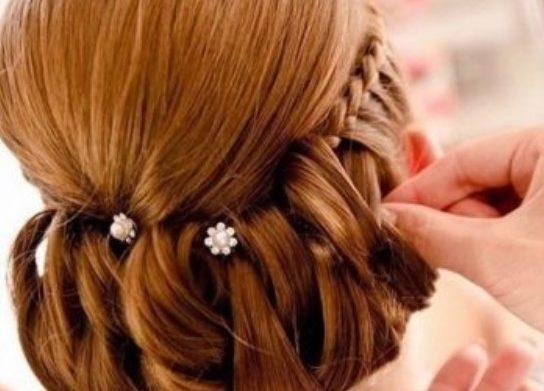шпилька для волос с декором
