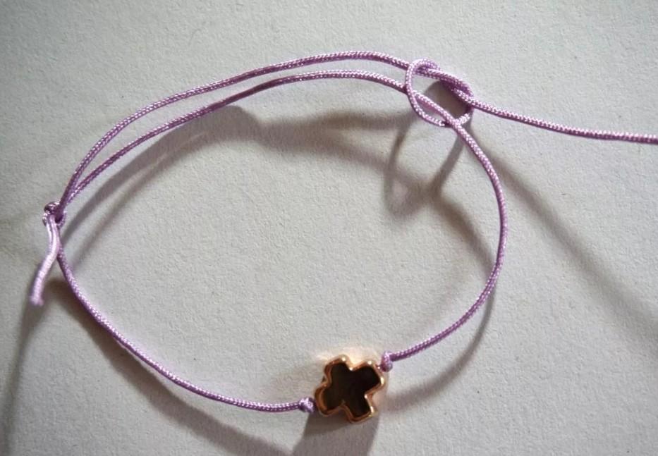 скользящий узел на браслете ткацкий готовый