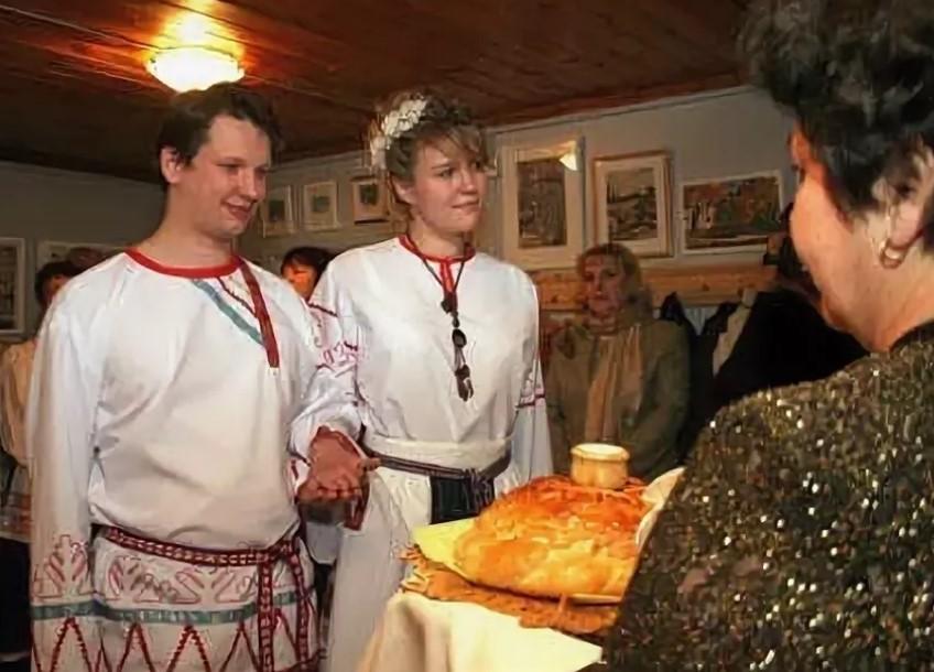 свадебные костюмы вепская свадьба