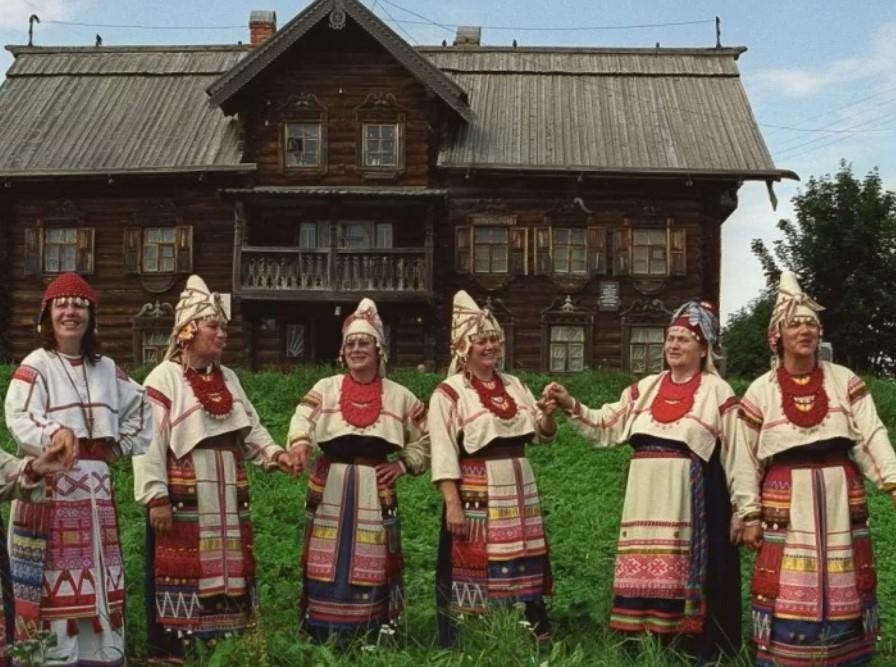 свадебные костюмы вепсы Карелии 2