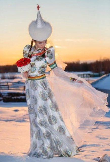 свадебный костюм буряты 5