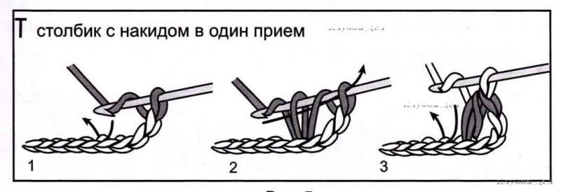 связать пуговицу схема 1