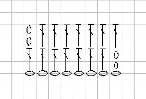 связать пуговицу схема 4