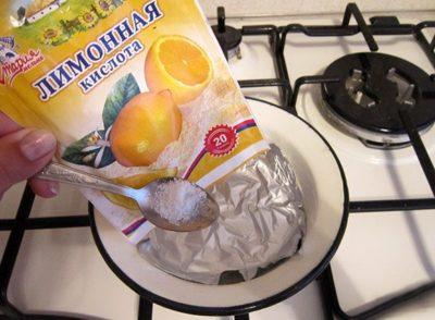 лимонная кислота для чистки серебряных цепочек