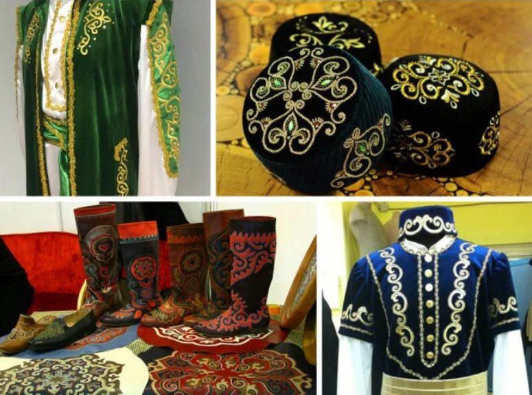 татарская свадьба национальная одежда обувь