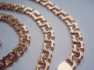 цепочка арабский бисмарк плетение