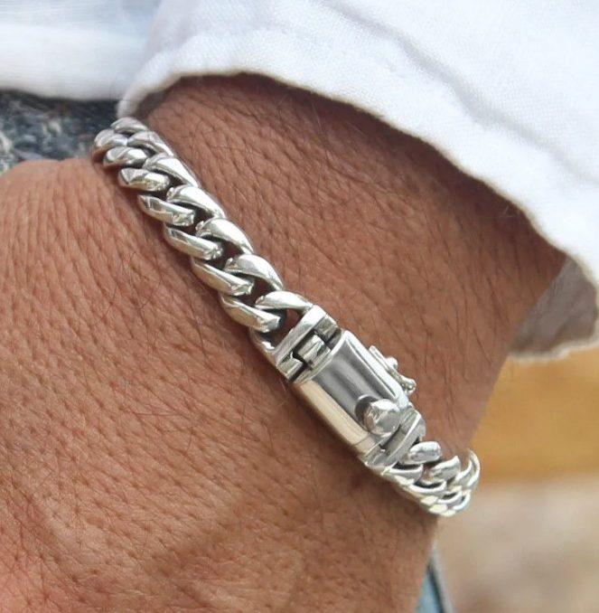 цепочка мужская серебро 3