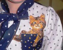 вышивка котика