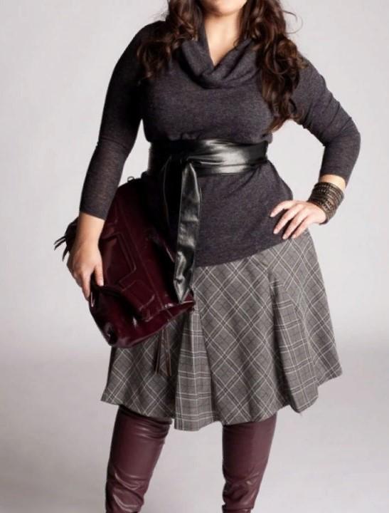 юбка А-силуэт трапеция для полных дам
