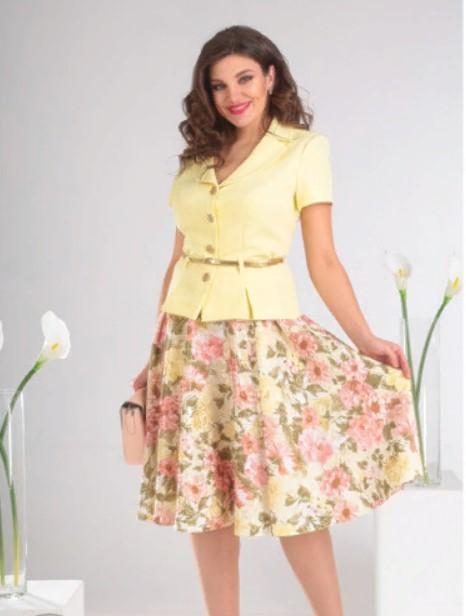 юбка трапеиця офисный стиль 4