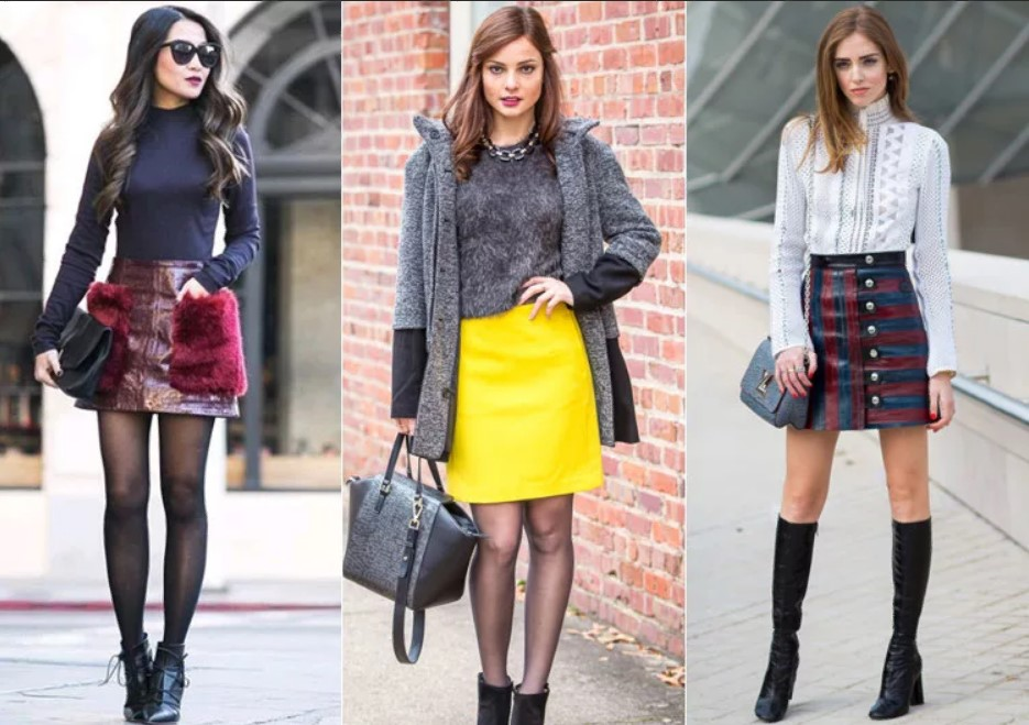 юбка трапеция мини моложедная мода