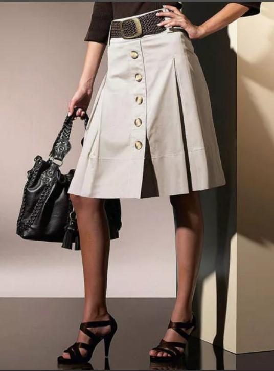юбка трапеция модный образ