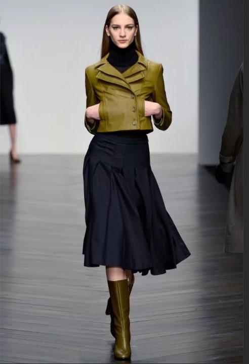 юбка трапеция с курткой