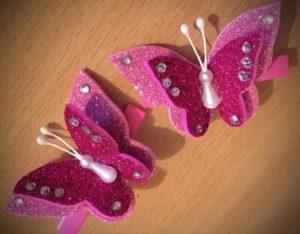 заколка бабочка из фетра 4