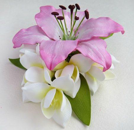 заколка фото 9 роз лилии