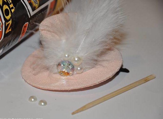 заколка шляпка 4