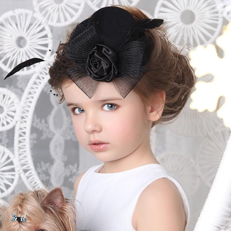 заколка шляпка для девочки