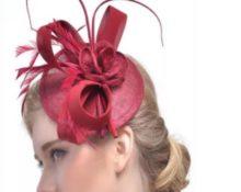 заколка шляпка красная для волос