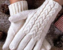 женские перчатки модель 1