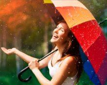 зонт у девушки