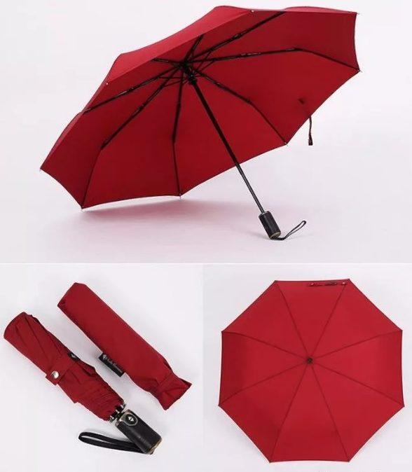зонты складные красный