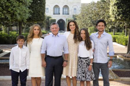 Рания Аль-Абдулла с семьей