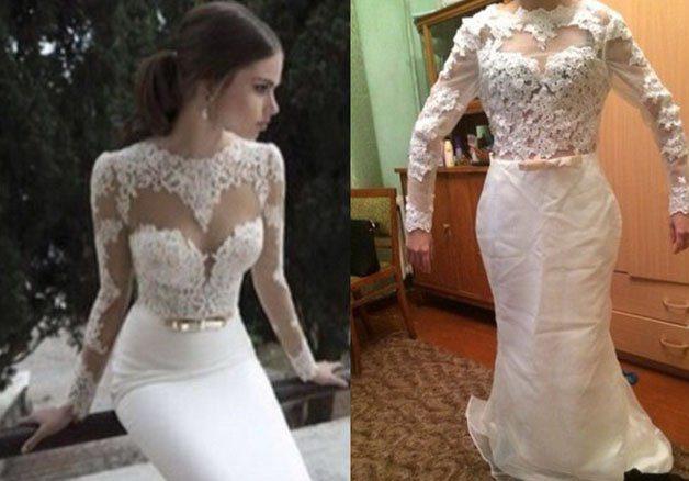 подобие свадебного платья