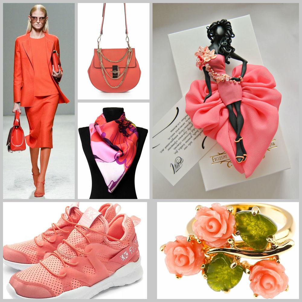 коралловый цвет обуви