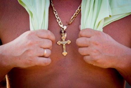 крестик на шею