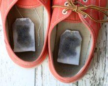 Чайные пакетики от запаха обуви