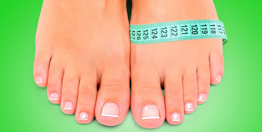 Как измерить полноту стопы