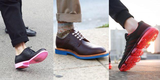Мужская обувь на контрастной подршве